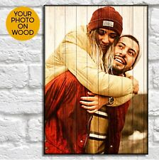Birthday gifts for Boyfriend Personalised Gifts For Him Photo On Wood wall Art