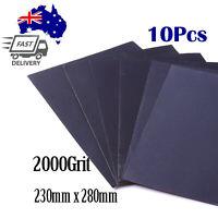10X Wet and Dry Paper Abrasive Waterproof Sandpaper Grade 2000Grit 230mm x 280mm