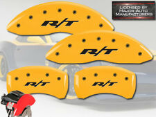 2011-2020 Dodge Charger SE SXT BR3 Front Rear Yellow MGP Brake Caliper Cover R/T