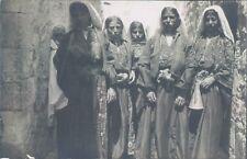 ISRAEL PALESTINIA Bethlehem girls RPPC 1930s