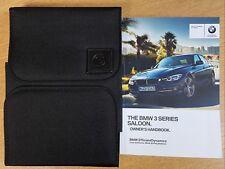 GENUINE BMW 3 SERIES 2015-2018 SALOON F30 HANDBOOK OWNERS MANUAL iDRIVE PACK