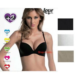Reggiseno Super Push Up + 2 Taglie Love and Bra Meraviglioso Nero Nudo Bianco