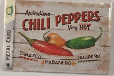 CHILLI PEPPERS - Metal Card Tin Sign by Nostalgic Art