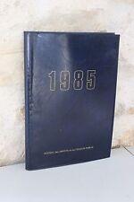 Vintage- Agenda des impôts et du Trésor Public - 1985 Vierge