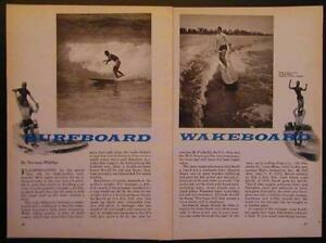 Surfboard Wakeboard Foam & Fiberglass 1966 How-To build PLANS