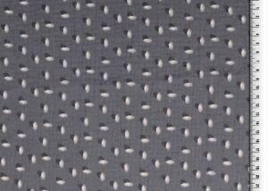 Double Gauze reaktiv bedruckt  grau