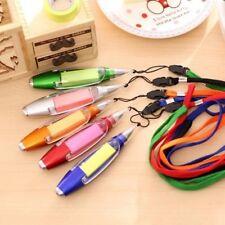 Novelty Stationery Ballpoint Pen LED Lights Lanyard Notes School Supplies LK