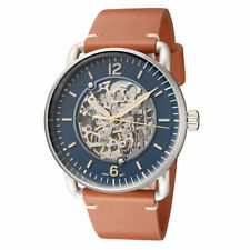 Fossil Men's Commuter ME3159 42mm Skeleton Dial Leather Watch