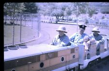 35mm slide - Vintage - Collectibles - Photo - cop ? cute girl train ride rails