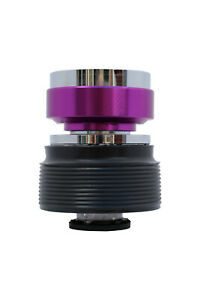 Chrome Purple Quick Release Steering Wheel Boss Kit CP for VW 3 040