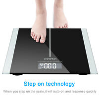 Digital Body Weight Bathroom Scale With Step-On Technology LED Display 400 Lb