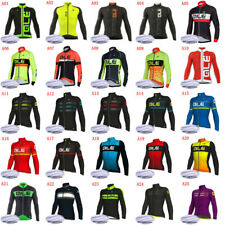 2020 Winter Cycling Thermal Fleece Jersey Mens Long Sleeve Bike Sports Uniform