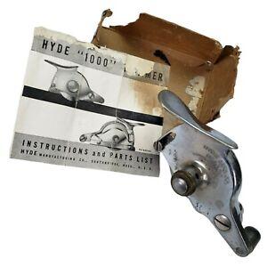 Hyde No. 1000 Wallpaper Trimmer Tool Original Instructions Partial Box Vintage