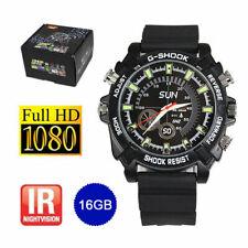 Smart Watch Hidden Camera HD 1080P SPY DVR Video Recorder Wrist Security 16GB UK