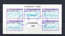 GUERNSEY-SARK EUROPA 1967 SHEETLET USED