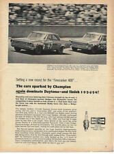 1964 Champion Spark Plugs Dodge NASCAR Ad/Daytona/A J Foyt