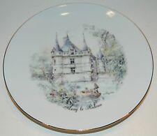 Limoges Plate w/ Castle Decor - Azay le Rideau