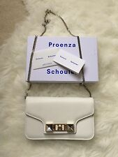 NWT $1100 Proenza Schouler White Leather PS11 Chain Wallet