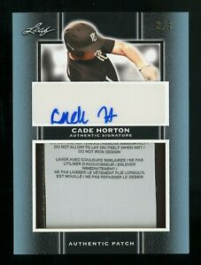 2019 Leaf Perfect Game Cade Horton RC Autograph Laundry Patch 2/3 OKLAHOMA