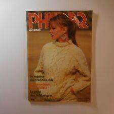 Revue 1981 PHILDAR mailles N°85 tricot patron couture mode vintage France N6932