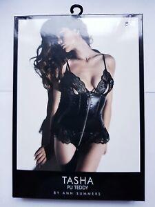 Ann Summers Tasha Peep Teddy Black Small 8-10 New Sexy Lingerie Peep Erotic