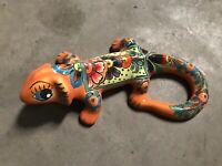Mexican Talavera Pottery IGUANA / LIZARD 12''