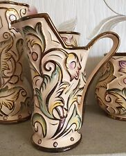WADE JUG GOTHIC PATTERN HAND PAINTED 1950's MADE IN ENGLAND VGC