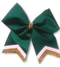 Custom Cheer Softball Soccer School Hair Bow Double Glitter Tip