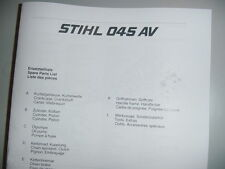 STIHL CHAINSAW 045 045AV PARTS LIST  MANUAL 38 PAGES
