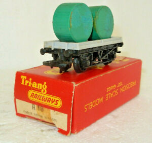 Triang OO Scale British Rail Flat Wagon with Cable Drum Load