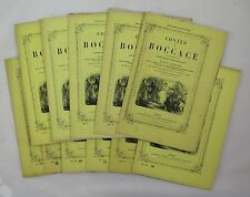 BOCCACE — Contes — 1869 — Ex. en feuilles sous couvertures de livraisons