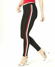 NWT Hue Racer STripe Original Denim Legging S Small Black  M78