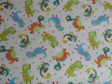 CRIB/TODDLER SHEET/FITTED/FLANNEL - FUNNY DINOSAUR CHARACTERS