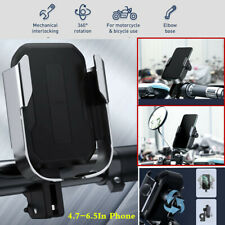 360 Rotation GPS Phone Holder Stand For Motorcycle Rear View Mirror Handlebar