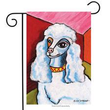 "Pawcasso Poodle Garden Flag Animals Toland Decorative Pet 12.5"" x 18"""