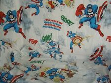B4 Marvel Vintage Captain America Twin Flat Sheet & Pillowcase Pottery Barn