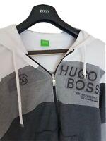 "Mens HUGO BOSS ""Green"" label full zip cotton  jumper/hoodie. Size medium.RRP£225"