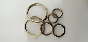 Brass Nickel Plated Locknut - M16, M20, M25, M32, M40, M50, M75, M63 (2 Pcs)