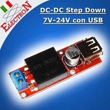 CONVERTITORE DC-DC 7V-24V to 5V 3A USB Output Alimentatore Step-Down KIS3R33S