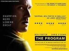 THE PROGRAM Cinema quad movie poster sport Lance Armstrong Tour de France