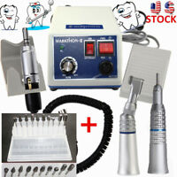 Dental Lab MARATHON 35k Rpm Handpiece Electric Micro motor N3+10* Drills Burs US