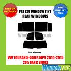 VW TOURAN 5 PUERTAS MPV 2010-2015 20% Dark TRASERO