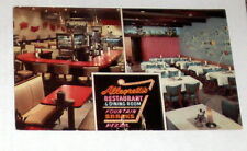 Vintage Rare ALLEGRETTI'S  CHICAGO IL RESTAURANT Card-Awesome Neon Sign~Mobster?