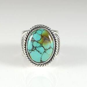 Sunshine Reeves Navajo Sterling Silver Ring Rare Gem Natural Hubei Turquoise