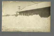 Canton SOUTH DAKOTA RP 1909 DEPOT Train Station BLIZZARD nr Sioux Falls Tea