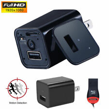 1080P Spy Hidden Camera USB Wall Charger AC Adapter Nanny Camcorder+Card Reader