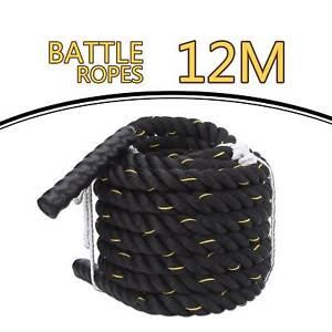 UK 9M/12M Battle Power Rope Battling Exercise Fitness Bootcamp Training Gym