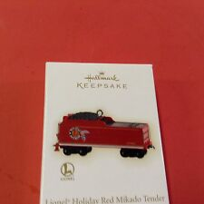Hallmark ornament - 2009 Lionel Holiday Series - Red Mikado Tender -  B016