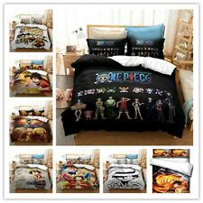 Anime One Piece Bedclothes 3D Bedding Set Duvet Covers Pillowcases B