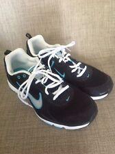 Nike Flex TR Training shoes Women's size 9.5  Black Blue running 443836-006 EUC